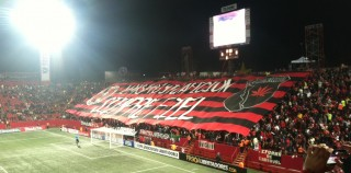 Xolos vs Atletico Mineiro Copa Libertadores May 23, 2013 – The hound goes after the 'galos'