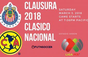Chivas vs America 2018 Clasico Nacional