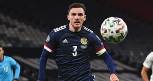 Andy Robertson Scotland vs Israel 2020