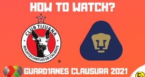 Xolos Tijuana vs Pumas UNAM 2021